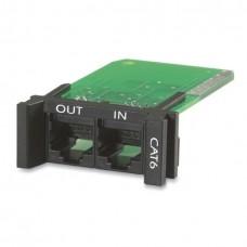 Модуль APC для защиты от всплесков напряжения для сетевых линий категории 6 или 5/5e, заменяемый, 1U, используется с рамами PRM4 или PRM24