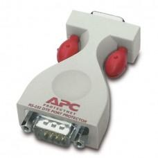 Отдельное устройство APC ProtectNet защиты от импульсных помех линий последовательного интерфейса RS232 (9-контактная вилка с одной и розетка с другой стороны).