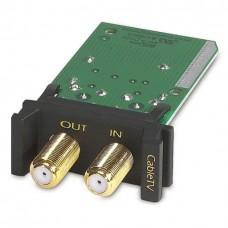 Сменный стоечный модуль защиты от импульсных помех в линиях кабельного ТВ, высота 1U, на одну линию